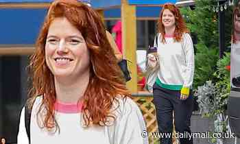Game Of Thrones' Rose Leslie shows off makeup-free visage during coffee run in NYC