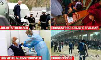 Joe goes MIA (again): Biden, 78, hits the beach amid multiple crises