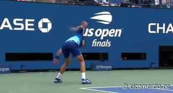 Djokovic explotó y rompió su raqueta en la final del US Open 2021   VIDEO - El Comercio Perú