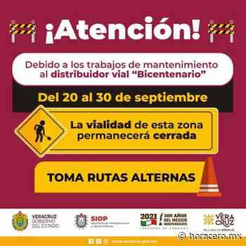 Dará SIOP mantenimiento al distribuidor vial Bicentenario en Xalapa   Hora Cero - Hora Cero   Noticias de Veracruz