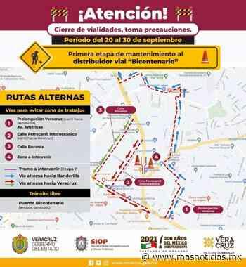 Del 20 al 30 de septiembre, se harán cierres viales en Xalapa - MÁSNOTICIAS