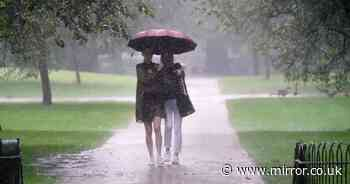 UK weather: Torrential downpours with warning for heavy rain after 23C heat ends