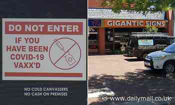 Covid-19 Australia: Gigantic Signs owner bans vaccinated shoppers from his store