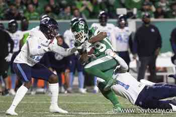 Fajardo ends touchdown drought for Riders in 30-16 win over Argos