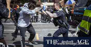 Gallery: Chaos, violence as protesters flood streets of Melbourne's inner east