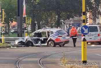 Zwaar verkeersongeval met twee politiewagens op Gentse ring