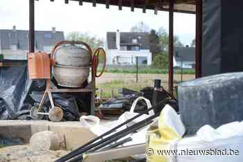 Dieven stelen elektriciteitskabels op bouwwerf