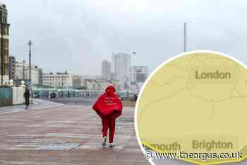 Brighton weather: Heavy rain to batter city amid yellow weather warning