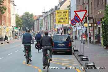 Fahrradfahrer müssen die Fahrbahn benutzen