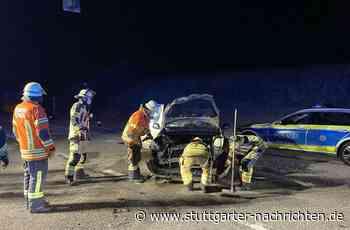 Ditzingen - Autos stoßen zusammen - Zwei Leichtverletzte - Stuttgarter Nachrichten