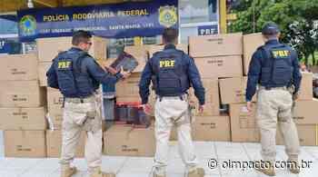 PRF apreende carga com produtos eletrônicos sem nota fiscal em Santa Maria do Pará - Jornal O Impacto