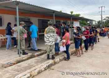Inició vacunación contra el Covid-19 para mayores de 18 en Chinameca - Imagen de Veracruz