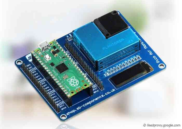 Monitor air quality with the Raspberry Pi Pico Air expansion board