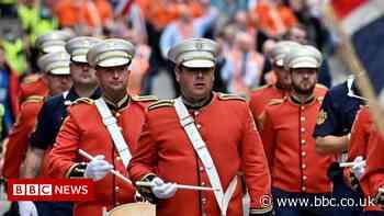 Thousands take part at Orange walks in Glasgow