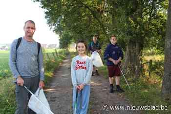 Vrijwilligers Natuurpunt ruimen zwerfvuil op in Zammelsbroek