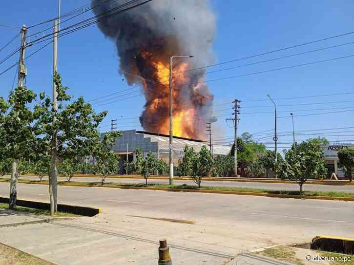 Alarma en Pucallpa por incendio en planta envasadora de gas [video] - El Peruano