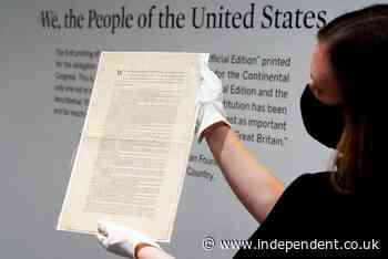 Rare copy of US Constitution expected to fetch record sum at auction in New York