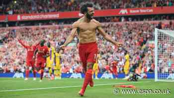 Salah, Mane 8/10 as they fire Liverpool to victory vs. Palace