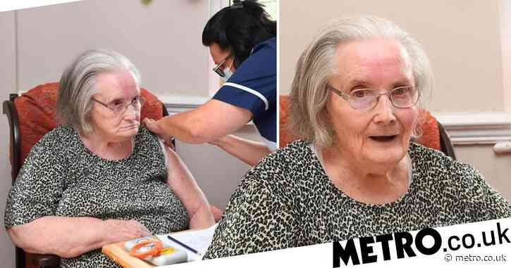 Woman, 85, becomes first person in UK to have care home Covid booster jab