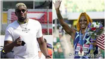 """El consejo de Bolt a Sha'Carri: """"Hay que entrenar duro... y después hablar"""" - MARCA.com"""