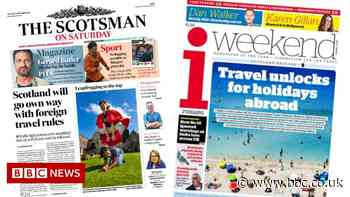 Scotland's papers: Scotland will 'go own way' on foreign travel rules - BBC News
