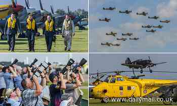 Visitors enjoy spectacular displays at Duxford's 1940-themed Battle of Britain air show2021