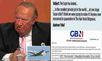 Andrew Neil was about to be sacked by GB News before he walked out