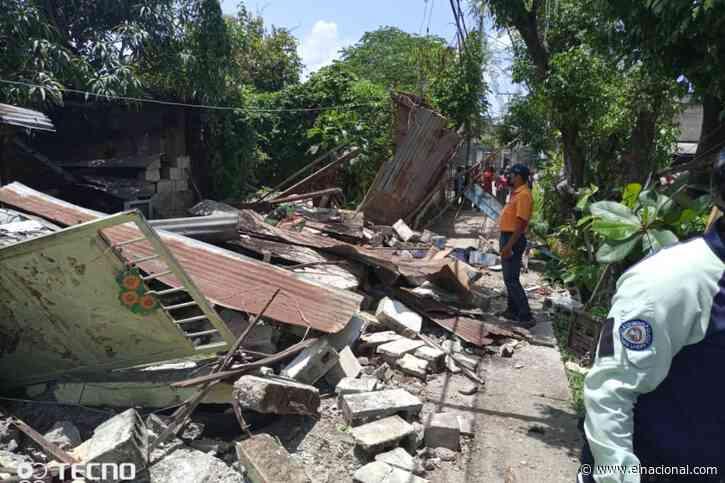 Un muerto y un herido por derrumbe de una vivienda en Ocumare del Tuy
