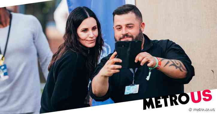 Courteney Cox hangs out with the crowd as Snow Patrol headline Isle of Wight Festival