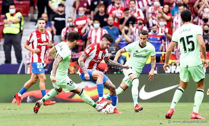 El Atlético de Madrid lidera LaLiga pese al empate ante el Bilbao