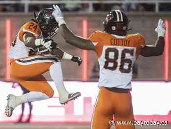 Reilly throws two TDs, leads B.C. Lions over Montreal Alouettes 27-18