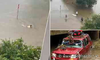 Alabama man is feared dead after flash floods carried his SUV into drain