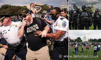 'Justice for J6' rally sees pro-Capitol riot protesters outnumbered by cops and press