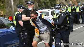 Más de 200 personas detenidas en una protesta contra el aislamiento por el Coronavirus en Australia - Misiones OnLine