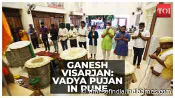 Ganesh Visarjan: Vadya Pujan organised in Pune