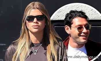 Sofia Richie is seen stepping out for lunch with her boyfriend Elliot Grainge in Beverly Hills