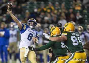 Top-ranked Winnipeg Blue Bombers edge Edmonton Elks 37-22 for fourth straight victory