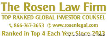 SAM INVESTOR ALERT: ROSEN, TOP RANKED INVESTOR COUNSEL, Encourages The Boston Beer Company, Inc. Investors with Losses to Secure Counsel Before Important Deadline in Securities Class Action - SAM