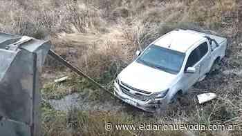 El Calafate: dejó la camioneta sin freno y cayó por un barranco - El Diario Nuevo Dia