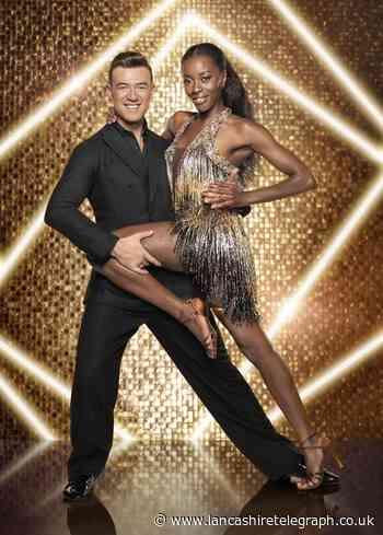 Blackburn's AJ Odudu meets Strictly Come Dancing partner