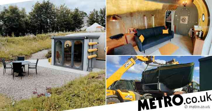 Britain's last remaining sonar hull from an HMS Destroyer gets converted into a glamping pod