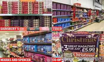 Supermarkets are ALREADY selling festive products with shoppers urged to buy now and 'stock up'