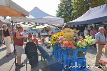 40 jaar boerenmarkt wordt gevierd met schmink, bloemen en een treintje