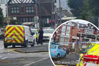 Forensics at the scene of 'stabbing' in Elm Grove