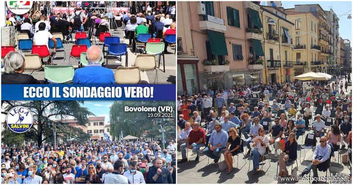 """""""Per Letta sedie vuote, con me in centinaia"""": l'attacco social di Salvini. La risposta del Pd: """"Ha usato Photoshop, clamoroso autogol"""""""