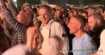 England goalkeeper Jordan Pickford spotted in crowd watching Gerry Cinnamon at This is Tomorrow