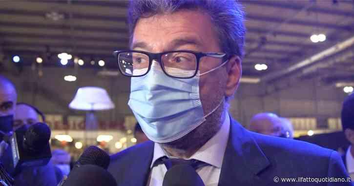 """Energia, Giorgetti come Cingolani: """"Caro bollette? La transizione ha un costo e qualcuno dovrà pagarlo"""""""