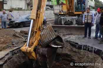 Reportan vecinos de Naucalpan socavón en San Rafael Chamapa - El Capitalino