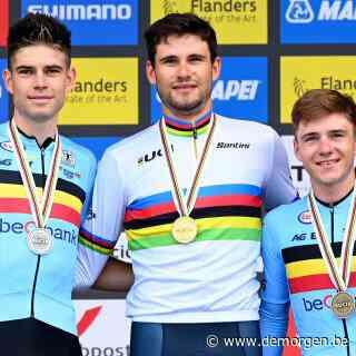 Filippo Ganna verlengt wereldtitel na thriller tegen Van Aert, Evenepoel pakt brons
