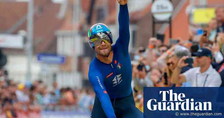 Filippo Ganna edges out Van Aert to win World Championships time trial crown